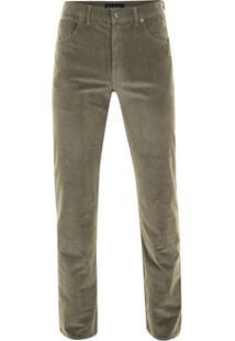 Calça De Veludo Pierre Cardin Cotelê Masculina - Masculino-Marrom Claro