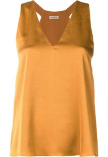 Blanca Blusa Sem Mangas - Amarelo