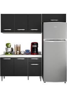 Cozinha Modulada 3 Módulos Composição 3 Branco/Preto - Lumil