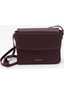 Bolsa Shoulder Bag Couro Bordeaux - P