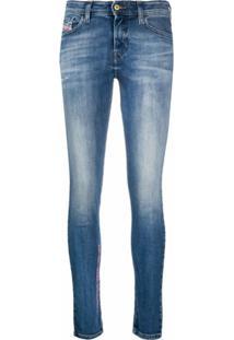 Diesel Calça Jeans Skinny Slandy Cintura Média - Azul