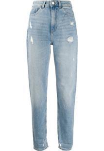 Emporio Armani Calça Jeans Cenoura Cintura Alta - Azul