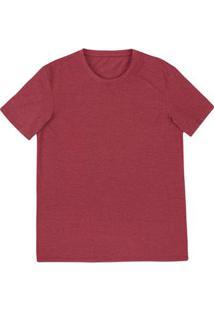 Camiseta Masculina Básica Modelagem World Em Malha Mescla