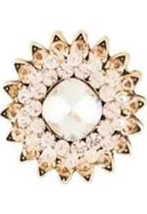 Broche Armazém Rr Bijoux Flor Cristais