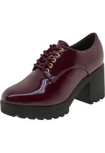 Sapato Feminino Oxford Vizzano - 1294100 Vinho