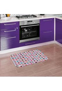 Tapete De Cozinha Mdecore Lhama Colorido 40X60Cm