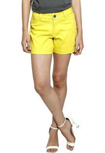 Bermuda Moche Desfiada Feminina - Feminino-Amarelo