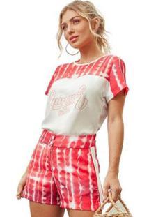 T-Shirt Fashion4You Feminina - Feminino-Vermelho