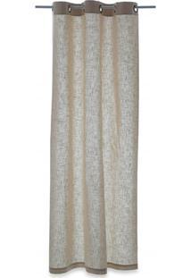 Cortina Em Algodão Linen Cinza Claro 220X120Cm
