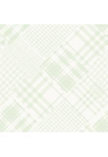 Papel De Parede Lymdecor Coleção Infantário Pied-Poule 1716 Bobinex Verde