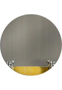 Espelho Love Decor Decorativo Circulo ÚNico - Prata - Dafiti