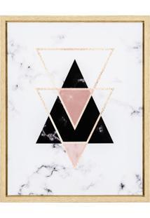 Quadro Em Canvas Com Triângulos Mart
