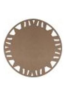 Kit Sousplat Em Mdf Cru Mdecore Abstrato 35X35Cm 12Pçs