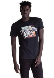 Camiseta Levis Set In Neck 2 Masculina - Masculino-Preto