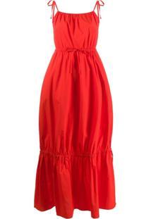Chinti And Parker Vestido Com Alças Finas - Vermelho