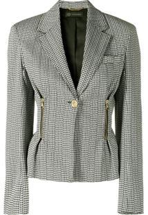 Versace Blazer Com Abotoamento Único - Preto