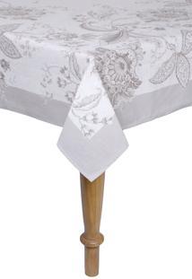 Toalha De Mesa Karsten Quadrada Cada Dia Kiara Branco 140 X 140 - Branco - Dafiti
