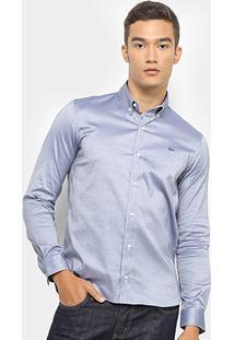 Camisa Lacoste Masculina - Masculino-Azul