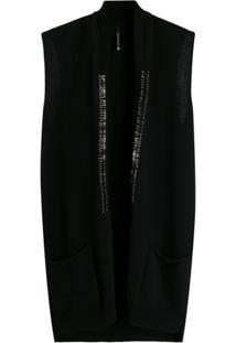 Pierantoniogaspari Pin-Embellished Sleeveless Cardigan - Marrom