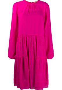 Nº21 Vestido Midi Franzido - Rosa