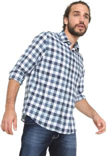 Camisa Vr Reta Xadrez Azul