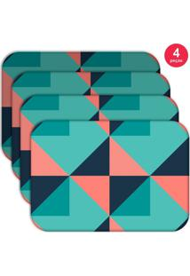 Jogo Americano Love Decor Wevans Abstrato Colorful Kit Com 4 Pçs
