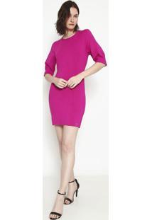 Vestido Com Recortes- Pink- Colccicolcci