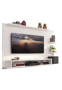Painel Para Tv Até 60 Polegadas Madesa Alfa Com Prateleiras E Nichos Branco Branco