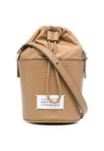 Maison Margiela Bolsa Bucket Com Patch De Números - Marrom