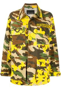 Ermanno Ermanno Jaqueta Militar Com Estampa Camuflada - Marrom