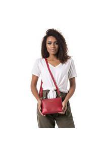 Bolsa Feminina Pequena Com Alça Transversal Vermelho Dhaffy