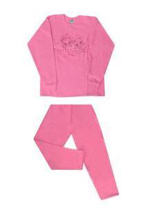 Pijama Longo Moletinho Com Silk Malwee (3227) 100% Algodão