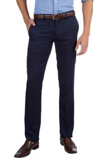 Calça Social Masculina Azul Lisa - 46