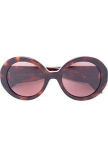 c7814a78dcf8c Óculos De Sol Alexander Mcqueen Marrom feminino   Shoelover