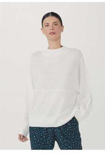 Blusão Básico Feminino Em Tricot Texturizado Branc