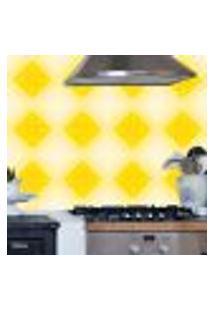 Adesivo De Azulejo Losangos Tons Amarelos 10X10Cm