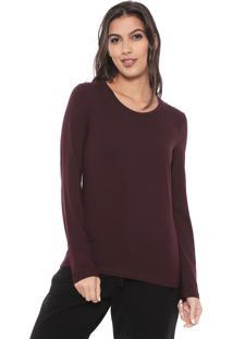 Camiseta Liz Easywear Lisa Bordô - Kanui