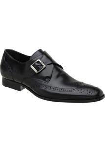 Sapato Social Oxford Malbork Masculino - Masculino-Preto