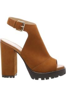 Sandal Boot Nobuck Combat Savannah Scotch | Arezzo