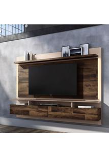 Painel Para Tv Até 60 Polegadas Limit I Marrom Deck E Off White