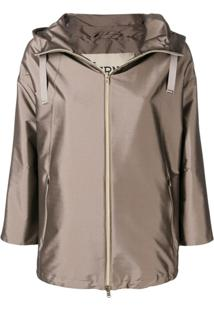 Herno Fitted Lightweight Jacket - Marrom
