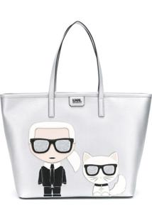 Karl Lagerfeld Bolsa Tiracolo 'K/Ikonik' - Metálico