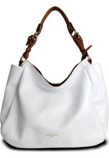 Bolsa Handbag Couro House Of Caju Alça Ombro Feminina - Feminino-Branco