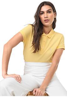 Camisa Polo Dudalina Lisa Amarela