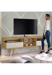Rack Para Tv Até 60 Polegadas 2 Portas 1 Prateleira Mavaular Damasco/Off White