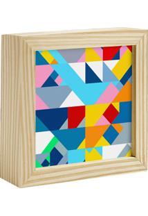 Quadro Decorativo Decohouse Moldura Art Multicolorido