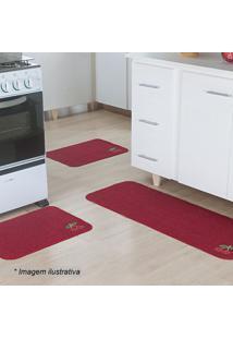 Jogo De Tapetes Para Cozinha Patch- Vermelho- 3Pã§S