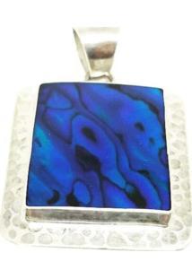 Pingente Lolla925 Abalone Azul Prata 925