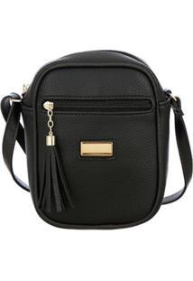Bolsa Mevisto Transversal Shoulder Bag - Unissex-Preto