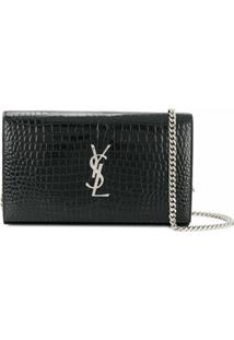 Saint Laurent Bolsa Tiracolo 'Kate' - Preto